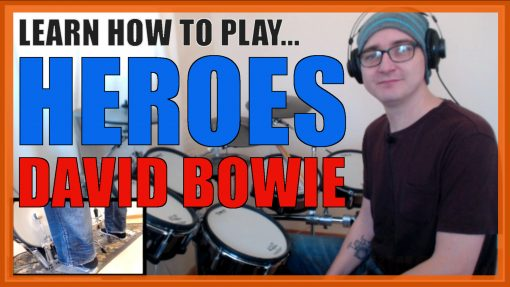 """""""Heroes"""" - (David Bowie) Full-Song Video Drum Lesson Notation Chart Transcription Sheet Music Drum Lesson"""