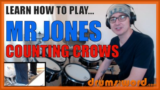"""""""Mr Jones"""" - (Counting Crows) Full-Song Video Drum Lesson Notation Chart Transcription Sheet Music Drum Lesson"""