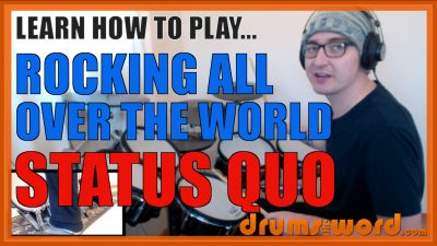 """""""Rocking All Over The World"""" - (Status Quo) Full-Song Video Drum Lesson Notation Chart Transcription Sheet Music Drum Lesson"""