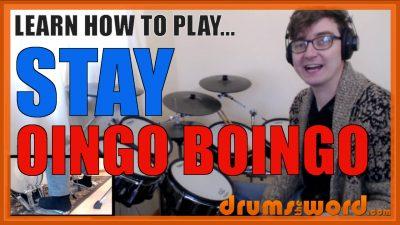 """Stay"" - (Oingo Boingo) Full-Song Video Drum Lesson Notation Chart Transcription Sheet Music Drum Lesson"