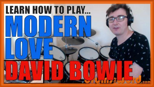 """Modern Love"" - (David Bowie) Full-Song Video Drum Lesson Notation Chart Transcription Sheet Music Drum Lesson"