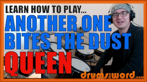 """""""Another One Bites The Dust"""" - (Queen) Full-Song Video Drum Lesson Notation Chart Transcription Sheet Music Drum Lesson"""