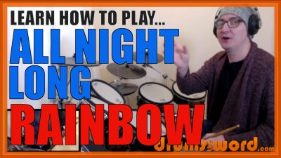 """""""All Night Long"""" - (Rainbow) Full-Song Video Drum Lesson Notation Chart Transcription Sheet Music Drum Lesson"""