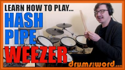 """""""Hash Pipe"""" - (Weezer) Full-Song Video Drum Lesson Notation Chart Transcription Sheet Music Drum Lesson"""