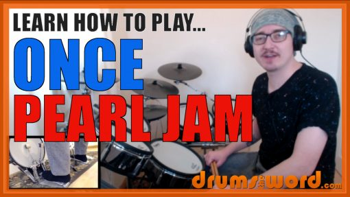 """""""Once"""" - (Pearl Jam) Full-Song Video Drum Lesson Notation Chart Transcription Sheet Music Drum Lesson"""
