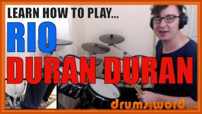 """""""Rio"""" - (Duran Duran) Full-Song Video Drum Lesson Notation Chart Transcription Sheet Music Drum Lesson"""
