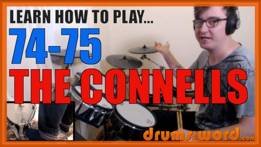 """""""74-75"""" - (The Connells) Full-Song Video Drum Lesson Notation Chart Transcription Sheet Music Drum Lesson"""
