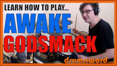 """""""Awake"""" - (Godsmack) Full-Song Video Drum Lesson Notation Chart Transcription Sheet Music Drum Lesson"""