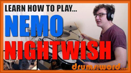 """Nemo"" - (Nightwish) Full-Song Video Drum Lesson Notation Chart Transcription Sheet Music Drum Lesson"