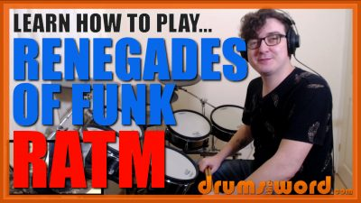"""""""Renegades Of Funk"""" - (Rage Against The Machine) Full-Song Video Drum Lesson Notation Chart Transcription Sheet Music Drum Lesson"""