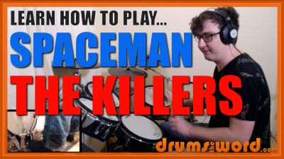"""""""Spaceman"""" - (The Killers) Full-Song Video Drum Lesson Notation Chart Transcription Sheet Music Drum Lesson"""