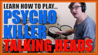 """Psycho Killer"" - (Talking Heads) Full-Song Video Drum Lesson Notation Chart Transcription Sheet Music Drum Lesson"