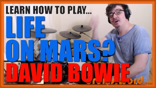 """""""Life On Mars?"""" - (David Bowie) Full-Song Video Drum Lesson Notation Chart Transcription Sheet Music Drum Lesson"""