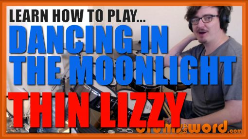 """""""Dancing In The Moonlight"""" - (Thin Lizzy) Full-Song Video Drum Lesson Notation Chart Transcription Sheet Music Drum Lesson"""
