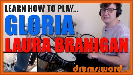 """Gloria""- (Laura Branigan) Full-Song Video Drum Lesson Notation Chart Transcription Sheet Music Drum Lesson"