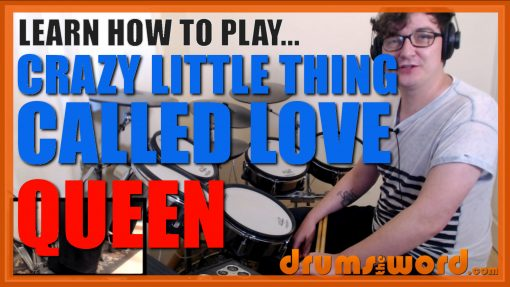 """""""Crazy Little Thing Called Love""""- (Queen) Full-Song Video Drum Lesson Notation Chart Transcription Sheet Music Drum Lesson"""