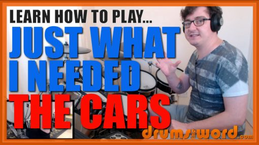 """""""Just What I Needed""""- (The Cars) Full-Song Video Drum Lesson Notation Chart Transcription Sheet Music Drum Lesson"""