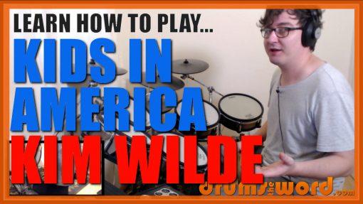 """Kids In America""- (Kim Wilde) Full-Song Video Drum Lesson Notation Chart Transcription Sheet Music Drum Lesson"
