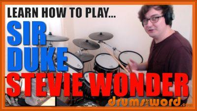 """""""Sir Duke""""- (Stevie Wonder) Full-Song Video Drum Lesson Notation Chart Transcription Sheet Music Drum Lesson"""
